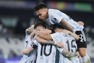 (Video) Guido Rodríguez finishes off Lionel Messi cross to open the scoring for Argentina