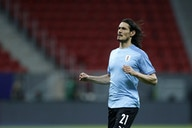 (Video) Referee calls no penalty kick for Uruguay after Edinson Cavani fell inside the box against Argentina