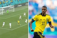 (Video) Alexander Isak almost scores incredible solo goal for Sweden after toying with Slovakian defence