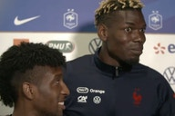 (Video) Paul Pogba quizzed by France team mates on PSG links