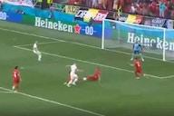 Video: Hazard equalises for Belgium vs Denmark thanks to quality De Bruyne assist