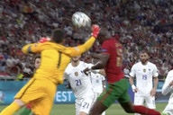 Video: Hugo Lloris concedes a penalty after punching a Portugal player in the face – Cristiano Ronaldo scores