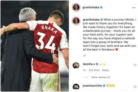 Article image: https://image-service.onefootball.com/crop/face?h=810&image=https%3A%2F%2Ficdn.caughtoffside.com%2Fwp-content%2Fuploads%2F2021%2F07%2FMourinho-comments-on-Granit-Xhaka-Instagram-post.jpg&q=25&w=1080