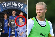 (Photo) Erling Haaland sent Instagram message by Chelsea star's son amid transfer speculation