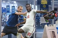 Photo: Patrice Evra posts hilarious meme of Giorgio Chiellini pulling him back like Bukayo Saka