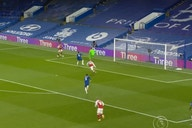 (Video): The bizarre goal that gave Arsenal 1-0 lead over Chelsea