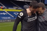 (Video) Alisson in tears at FT whistle after scoring injury-time winner to keep Liverpool's top four hopes alive