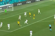 (Video) Liverpool-linked Isak's ridiculous solo run from the halfway line sees him beat three men before firing away shot