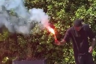 (Video) New Liverpool signing blasts YNWA & lights red flares in brilliant clip