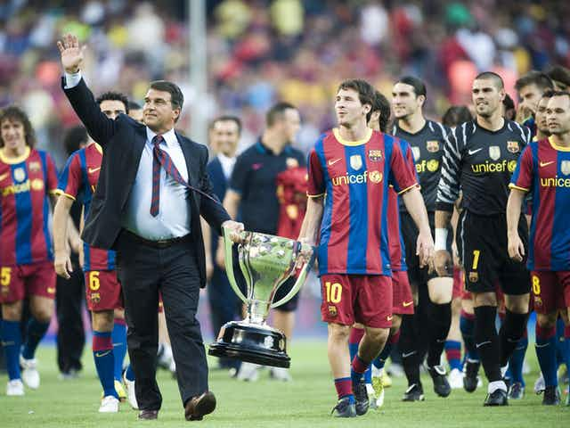 """Barcelona president Laporta on Lionel Messi renewal: """"Everything is progressing properly"""""""