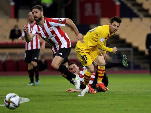 Watch: Athletic Bilbao and Barcelona 0-0 at half time in the 2021 Copa del Rey final