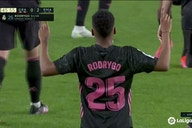 Watch: Rodrygo doubles Real Madrid's lead at Granada just before half-time