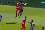 Watch: Sergio Busquets suffers nasty head collision and has to come off against Atletico Madrid
