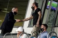 Sergio Ramos meets with Florentino Perez at Valdebebas but his future is still uncertain
