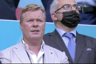 Barcelona coach Ronald Koeman watches Memphis Depay and the Netherlands play Austria in Amsterdam