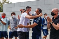 Sergio Busquets welcomed back warmly by Spanish teammates at Las Rozas