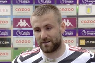 (Video) Luke Shaw reveals what Solskjaer told Man United at half-time vs Aston Villa