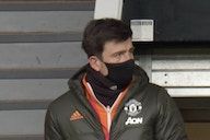 (Photo) Worrying sight as Harry Maguire pictured at Old Trafford on crutches