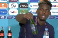 (Video) Pogba removes bottle of Heineken from press conference table