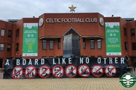 Green Brigade back at Celtic Park with 'A Board Unfit for Purpose' banner