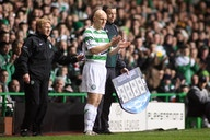 Photo: Tommy Gravesen in attendance for Celtic game