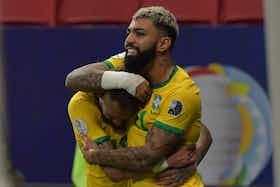 Imagem do artigo: https://image-service.onefootball.com/crop/face?h=810&image=https%3A%2F%2Fimages.performgroup.com%2Fdi%2Flibrary%2Fdazneditorialimages%2F3%2F7e%2Fgabigol-e-neymar-brasil-x-venezuela-copa-america-13062021_gabigol_e_neymar_brasil_x_venezuela_copa_america_13062021_1qk4i1h6dgtiz1xfi7jkuyw1is.jpg%3Ft%3D627906362&q=25&w=1080