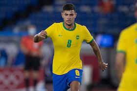 Imagem do artigo: https://image-service.onefootball.com/crop/face?h=810&image=https%3A%2F%2Fimages.performgroup.com%2Fdi%2Flibrary%2Fdazneditorialimages%2Fe%2Fe2%2Fbruno-guimaraes-em-brasil-x-alemanha-olimpiadas-de-toquio-futebol-masculino-22072021_bruno_guimaraes_em_brasil_x_alemanha_olimpiadas_de_toquio_futebol_masculino_22072021_ulitjp2pcmgi19iuqlu2lbv3b.jpg%3Ft%3D-155267350&q=25&w=1080