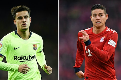 Coutinho To Bayern Munich How The New Recruit From Barcelona Compares To James Rodriguez Onefootball