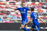 Manchester United 1-2 Leicester City: Soyuncu winner crowns Guardiola's Man City champions