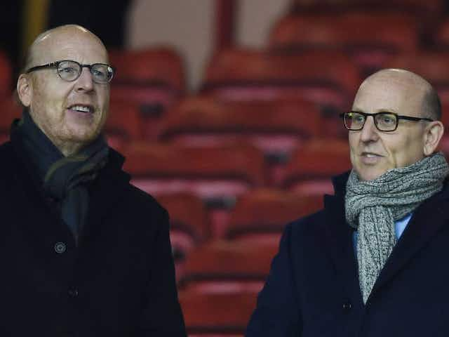 Manchester United fans protest at Carrington against Glazer ownership
