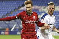 Van den Berg admits frustration missing Liverpool chance
