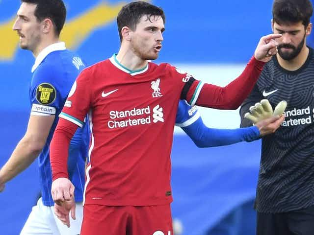 Liverpool fullback Robertson: Leeds can be frightening