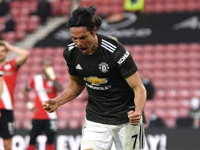 Man Utd midfielder Bruno Fernandes hails 'proper striker' Cavani