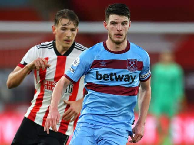 West Ham boss Moyes:  Rice wants to get back as soon as he can