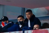 Kylian Mbappe on the bench for PSG