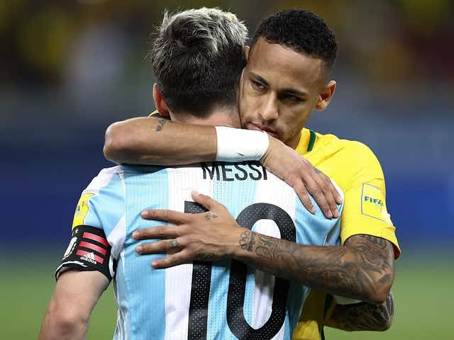 Felipão quer ver Messi e Neymar juntos de novo