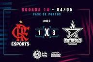Flamengo perde por 3 a 1 para o Botafogo e não vai à semifinal do e-Gol Pro de PES 3×3