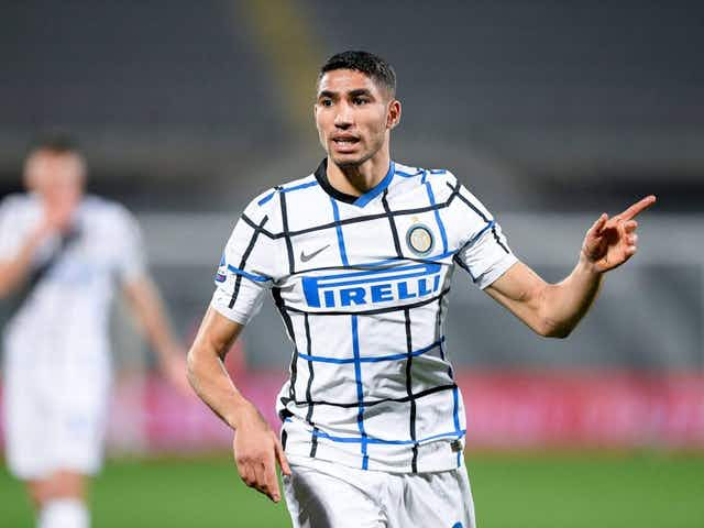 """Photo – Inter Wing-Back Achraf Hakimi Pleased After Draw At Napoli: """"Good Battle!"""""""