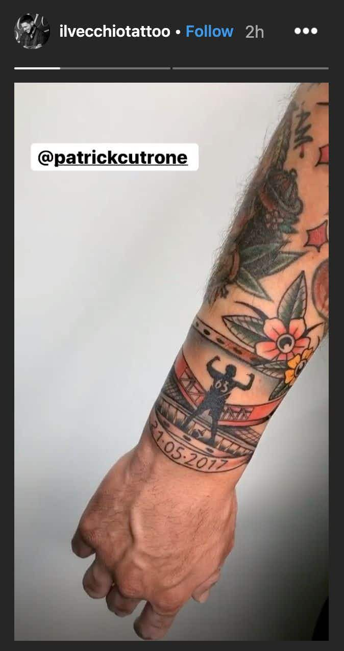 Photo Wolves Star Cutrone Gets Tattoo Showing Love For Ac Milan Onefootball