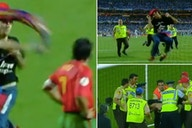 Euro 2004: When a pitch invader threw a Barcelona flag at Luis Figo in the final