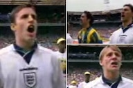 Euro 96: When England players belted out 'God Save The Queen' before Spain match