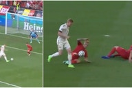 Belgium's Kevin De Bruyne returns with stunning assist that fooled two Denmark players