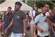 Thomas Partey: Arsenal supporters react as midfielder coldly ignores Spurs fan