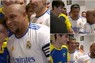 Real Madrid vs Barcelona legends: Roberto Carlos expertly trolled by Luis Figo