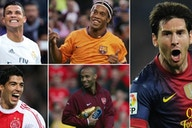 Messi, Ronaldo, Ronaldinho: Who had the most goals+assists in each calendar year?