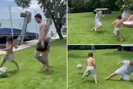 Mateo Messi: Lionel's son already looks like a baller as he shows off football skills