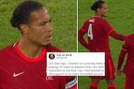 Virgil van Dijk: Liverpool defender sends emotional message after return vs Hertha Berlin