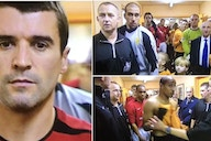 Roy Keane leading Man Utd team out vs Wolves without ref's permission is gold