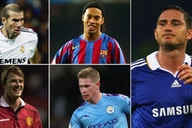Lampard, De Bruyne, Beckham: Which midfielder had the most goal contributions each year?