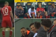 Arjen Robben: Bayern players laughing at Dutchman's reaction to being subbed remembered